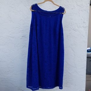 Blue lace dress size 18-20